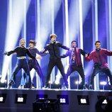 El representante de Noruega, Alexander Rybak, en su primer ensayo de Eurovisión 2018