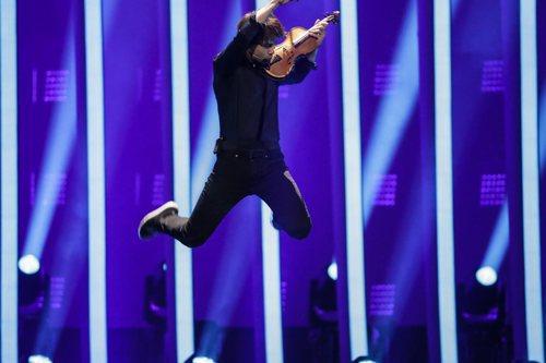 Alexander Rybak, representante de Noruega, en su primer ensayo de Eurovisión 2018