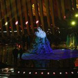 La representante de Rusia, Julia Samoylova, en su primer ensayo de Eurovisión 2018