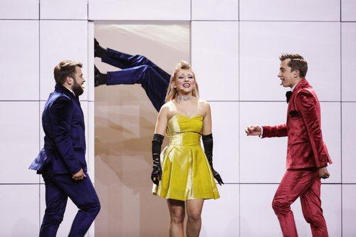 DoReDoS, representantes de Moldavia, en su primer ensayo de Eurovisión 2018
