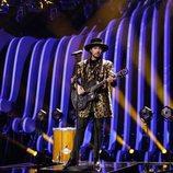 El representante de Paises Bajos, Waylon, en su primer ensayo en Eurovisión 2018