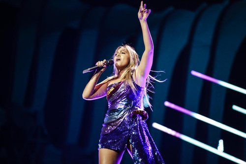Jessica Mauboy, representante de Australia, en su primer ensayo de Eurovisión 2018