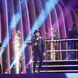 Los representantes de Polonia, Gromee y Lukas Meijer, en su primer ensayo de Eurovisión 2018
