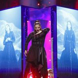 Christabelle, representante de Malta, en su primer ensayo de Eurovisión 2018