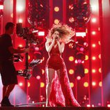 Laura Rizzotto, representante de Letonia, en su primer ensayo de Eurovisión 2018