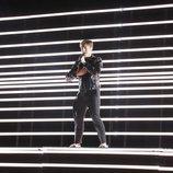 Benjamin Ingrosso, representante de Suecia, en su primer ensayo de Eurovisión 2018