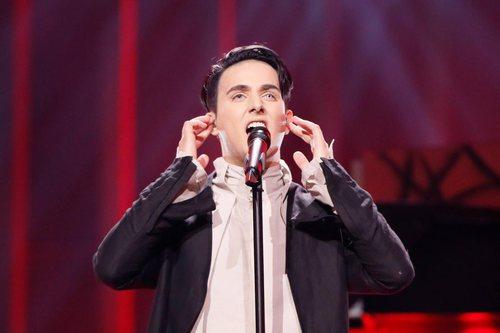 El representante de Ucrania, Melovin, en su primer ensayo en Eurovisión 2018
