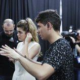 Alfred y Amaia, minutos antes de ensayar en Eurovisión 2018