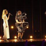 Alfred García y Amaia Romero en su primer ensayo en Eurovisión 2018