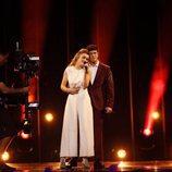 Alfred y Amaia, abrazados en su primer ensayo en Eurovisión 2018