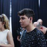 Amaia y Alfred en la prueba de sonido de Eurovisión 2018