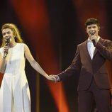 Amaia y Alfred ensayan por primera vez en el escenario de Eurovisión 2018
