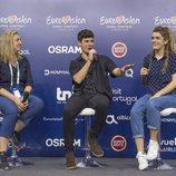 Alfred responde a las preguntas de la primera rueda de España en Lisboa