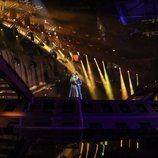 Amaia y Alfred en el Altice Arena de Lisboa durante su segundo ensayo para Eurovisión 2018