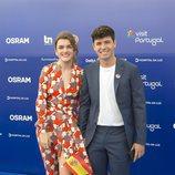 Alfred y Amaia, radiantes en la la inauguración oficial de la 63ª edición del Festival de Eurovisión.