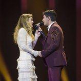 """Amaia y Alfred cantan """"Tu canción"""" agarrados de la mano en su tercer ensayo de Eurovisión 2018"""