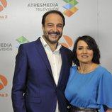 Roberto Vilar y Silvia Abril en la presentación de 'La noche de Rober'