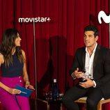 Mario Casas y Milena Martín hablando en la presentación de 'Instinto'