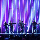 Alexander Rybak (Noruega) en la Final de Eurovisión 2018