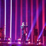 Eugent Bushpepa (Albania) en la Final de Eurovisión 2018