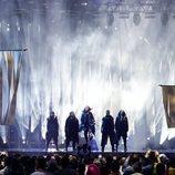 Rasmunssen (Dinamarca) en la Final de Eurovisión 2018