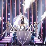 Saara Aalto (Finlandia) en la Final de Eurovisión 2018