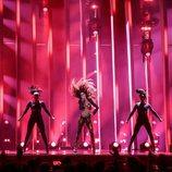 Eleni Foureira (Chipre) en la Final de Eurovisión 2018