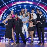 Los concursantes en el plató de 'Bailando con las estrellas'