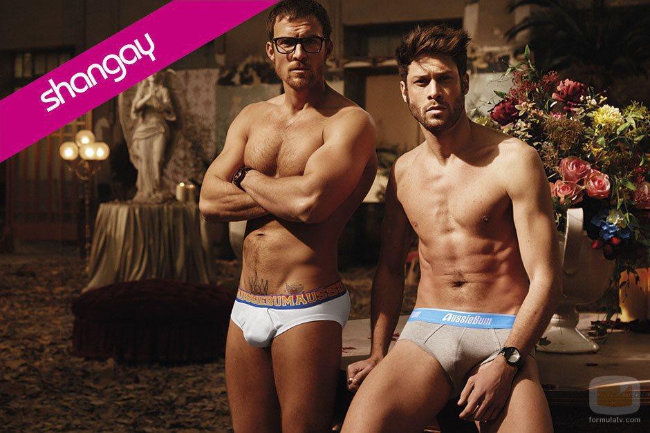 Mario Plágaro y José Lamuño ('Cupido'), semidesnudos para Shangay