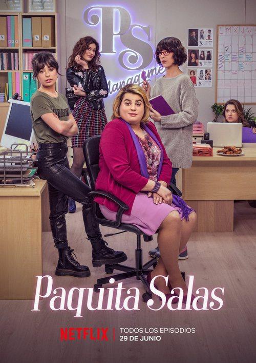 Poster oficial de la segunda temporada de 'Paquita Salas'