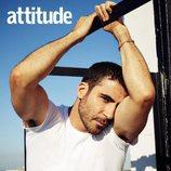 Miguel Ángel posando para la revista gay Attitude