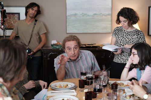 Gonzalo de Castro y Greta Fernández grabando una escena de 'Matar al padre'
