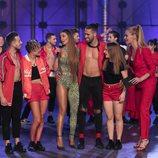 Eleni Foureira habla con los concursantes de 'Fama a bailar'