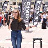 Una aspirante para entrar en 'Operación Triunfo', en el primer casting de Barcelona
