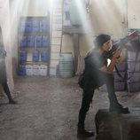 Aída Folch y Paula Echevarría ruedan una escena de 'Los nuestros 2' en Almería