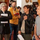 Malena Alterio y Javier Gutiérrez protagonistas de 'Vergüenza' grabando la segunda temporada