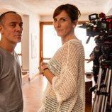 Malena Alterio y Javier Gutiérrez tras las cámaras de la grabación de ´Vergüenza'