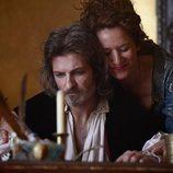 Jesús Olmedo y Sara Rivero en el rodaje de 'Lope enamorado'