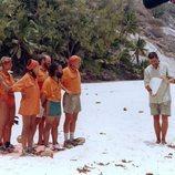 El equipo Sur de 'Supervivientes 2001' con Juanma López Iturriaga