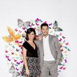 Nando Escribano y Núria Marín en el quinto aniversario de 'Cazamariposas' muy felices