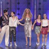 Los finalistas de 'Fama a bailar' junto a Paula Vázquez
