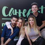 Raoul, Nerea, Agoney y Mimi posan frente al cartel del Carrefest Music Talent 2018
