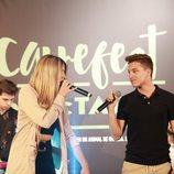 Raoul y Mimi cantando en la presentación del Carrefest Music Talent 2018