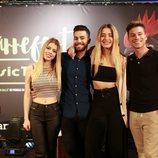 Nerea, Raoul, Agoney y Mimi posan en la presentación del Carrefest Music Talent 2018