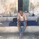 Paco Manzanedo en el rodaje de la serie 'El embarcadero'