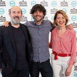 Javier Cámara, Diego San José y María Pujalte en la presentación de 'Vota Juan', serie de TNT