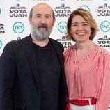 Javier Cámara y María Pujalte en la presentación de 'Vota Juan', de TNT