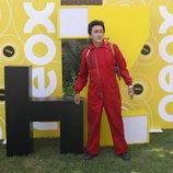 David Fernández caracterizado de 'La Casa de Papel' en la presentación de 'Homo Zapping'