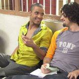 Miguel Ángel Muñoz y Edu del Prado en la grabación de 'Un paso adelante'