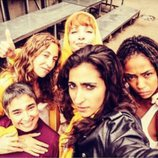 Las actrices de 'Vis a vis' durante el rodaje de la temporada 4